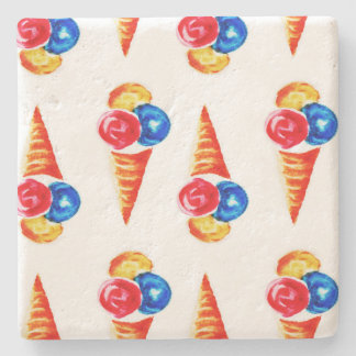 Ice-cream cone design stone coaster