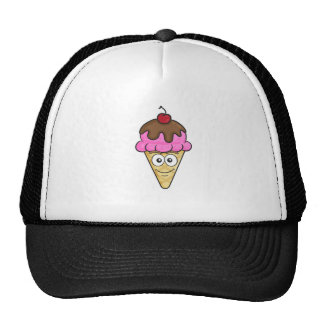 Ice Cream Cone Emoji Trucker Hats