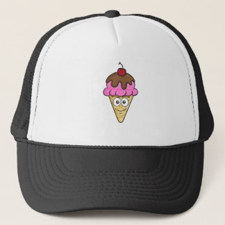 Ice Cream Cone Emoji Trucker Hat