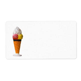 ice cream cone fun label