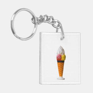 Ice cream cone gigantic fun treat gift acrylic keychains