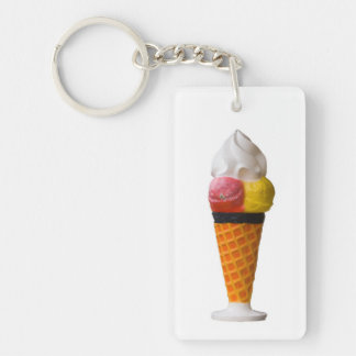Ice cream cone, gigantic fun treat gift Single-Sided rectangular acrylic key ring