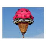 Ice Cream Cone Hot Air Balloon Postcards
