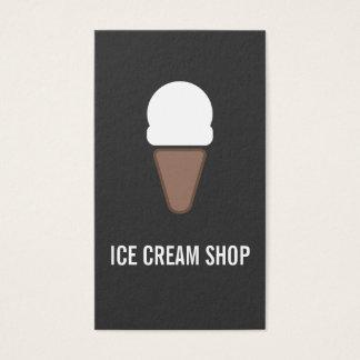 Ice Cream Cone Icon gray Business Card