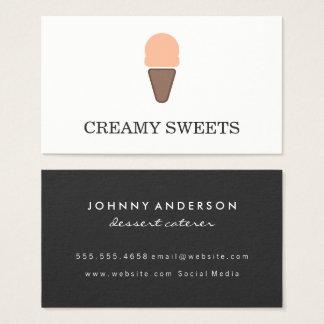 Ice Cream Cone Icon Sherbet Business Card