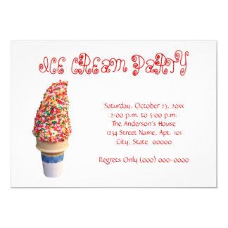 Ice Cream Cone Invitation