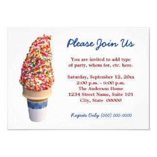 Ice Cream Cone Invitations