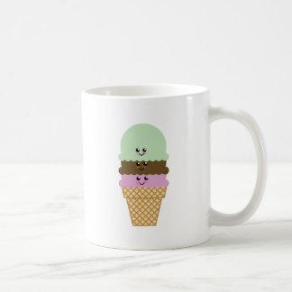 Ice Cream Cone Kawaii Art Coffee Mugs