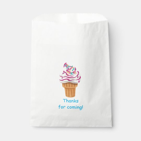 Ice Cream Cone Kids Favour Bag Favour Bags