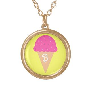 Ice Cream Cone Monogram Necklace