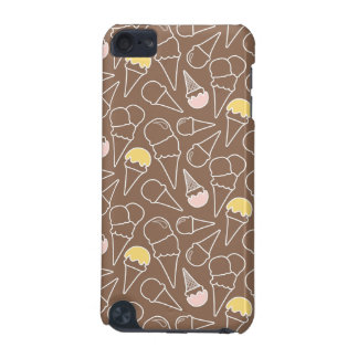 Ice Cream Cone Pattern on Brown iPod Touch 5G Case