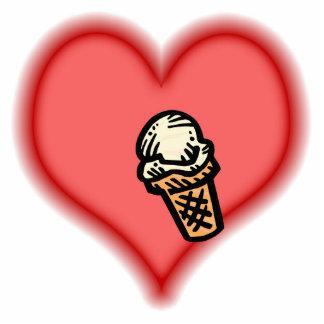 ice cream cone photo sculpture