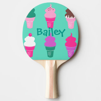Ice Cream cone ping pong paddle