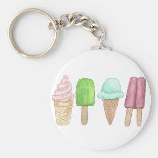 Ice Cream Cone Popsicle Key Chain