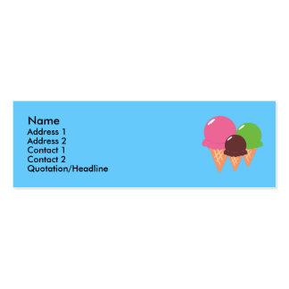 Ice Cream Cone Profile Cards Business Card Template