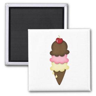 ice cream cone square magnet