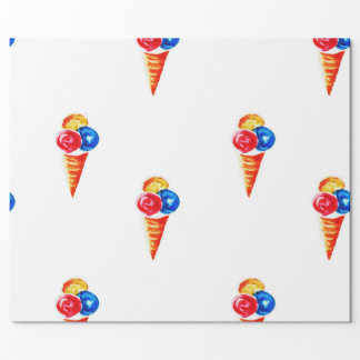 Ice-cream cone wrapping paper