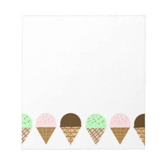 Ice Cream Cones ~ A Fun, Sugary Drawing Notepad