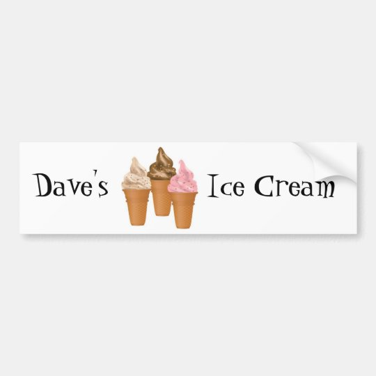 Ice Cream Cones Bumper Sticker