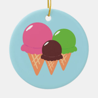Ice Cream Cones Christmas Ornament