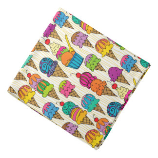 Ice Cream Cones Head Kerchiefs