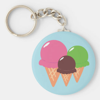 Ice Cream Cones Key Ring