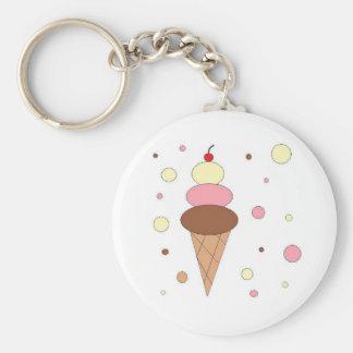 Ice Cream Cones Keychains