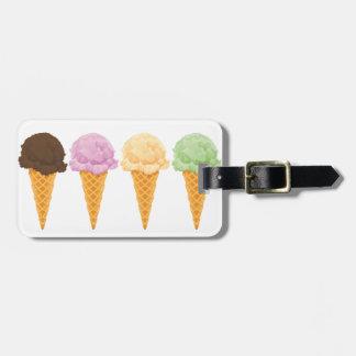 Ice Cream Cones Luggage Tag