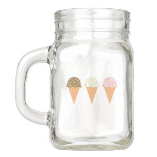Ice Cream Cones Mason Jar