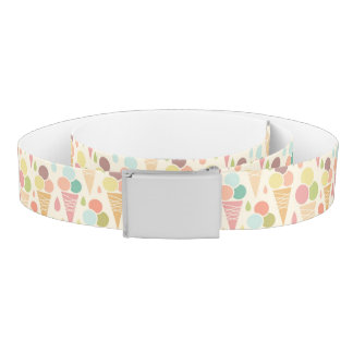 Ice cream cones pattern belt