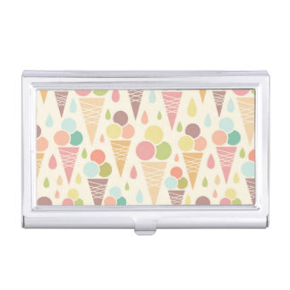 Ice cream cones pattern business card case