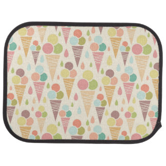 Ice cream cones pattern car mat
