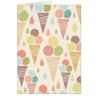 Ice cream cones pattern card