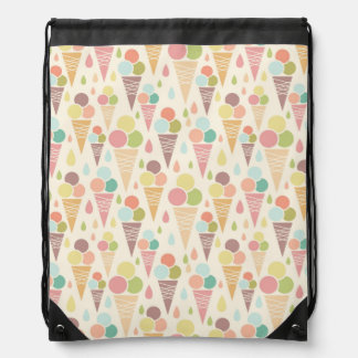 Ice cream cones pattern drawstring bag