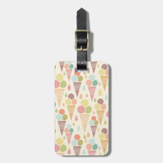 Ice cream cones pattern luggage tag