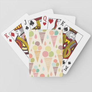 Ice cream cones pattern playing cards