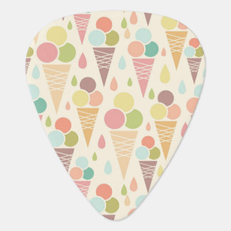 Ice cream cones pattern plectrum