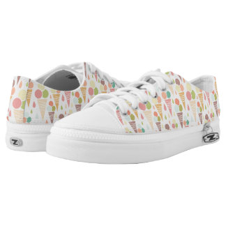 Ice cream cones pattern printed shoes