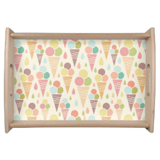 Ice cream cones pattern serving tray