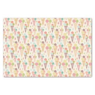 Ice cream cones pattern tissue paper