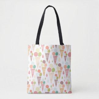Ice cream cones pattern tote bag