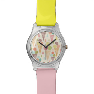 Ice cream cones pattern watch