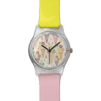 Ice cream cones pattern watches