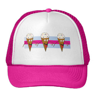 Ice Cream Cones Pink Hat
