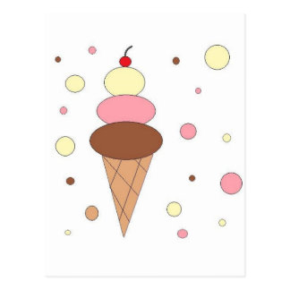 Ice Cream Cones Postcard