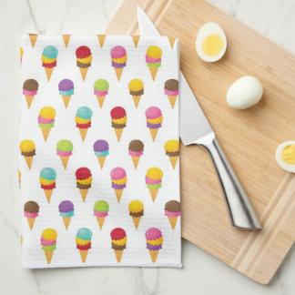 Ice Cream Cones Tea Towel