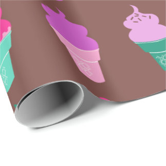 Ice cream cones wrapping paper