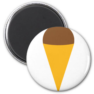 ice-cream cornet icon 6 cm round magnet