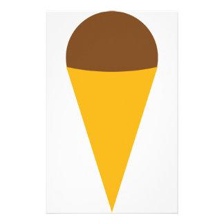 ice-cream cornet icon stationery design