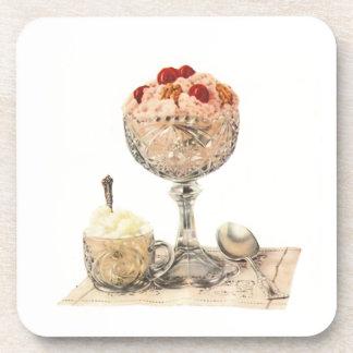 Ice Cream Dessert Cork Coasters